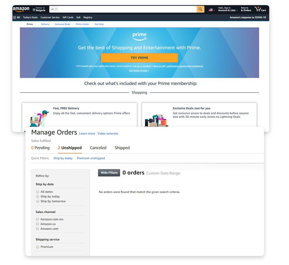 Amazon акаунт