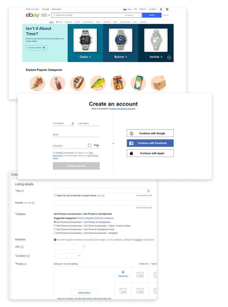 еBay листинги