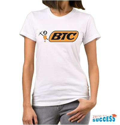 Дамска бяла тениска Btc