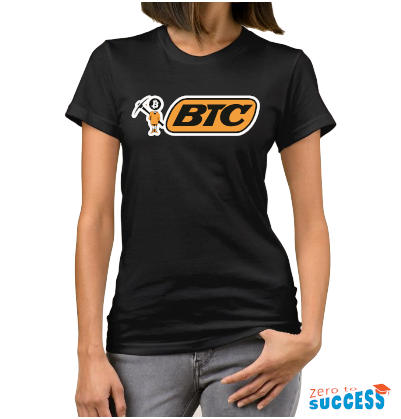 Дамска черна тениска Btc