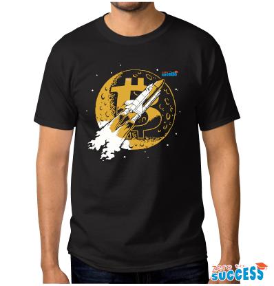 Мъжка черна тениска Btc Moon