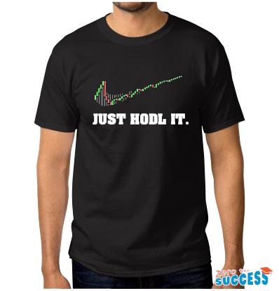 Мъжка черна тениска Just hodl it