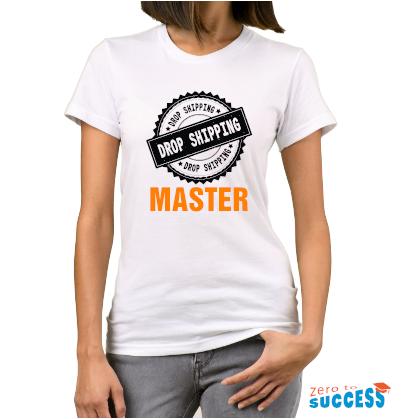 Дамска бяла тениска Dropshipping Master