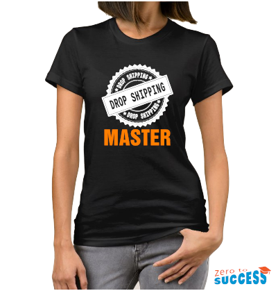 Дамска черна тениска Dropshipping Master