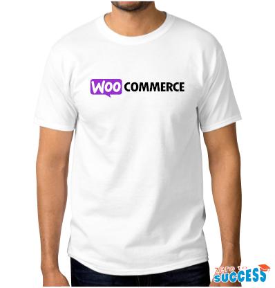 Мъжка бяла тениска WooCommerce