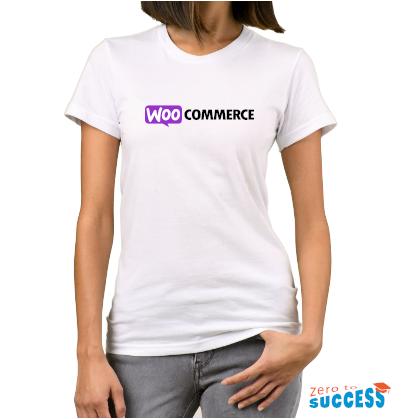 Дамска бяла тениска WooCommerce