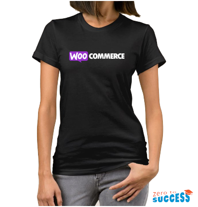 Дамска черна тениска WooCommerce
