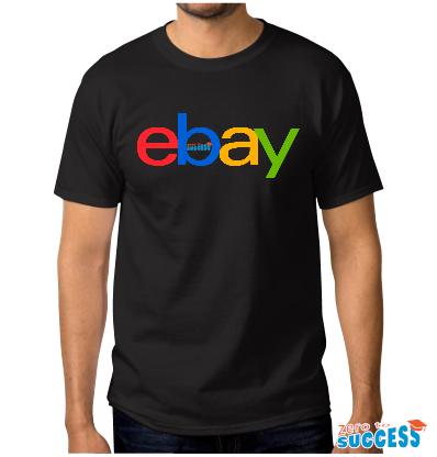 Мъжка черна тениска eBay