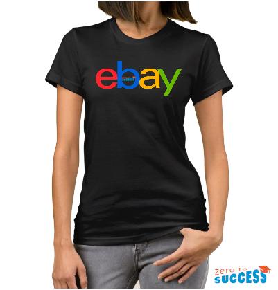 Дамска черна тениска eBay