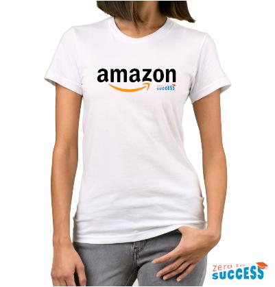 Дамска бяла тениска Amazon