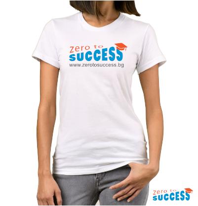 Дамска бяла тениска Zero to success