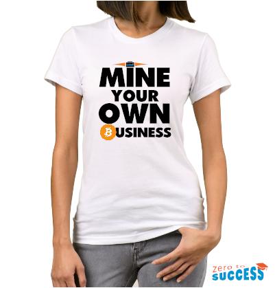 Дамска бяла тениска Mine your own business